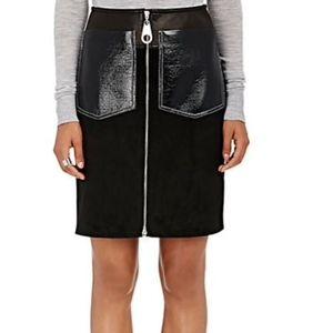 NWT Edun Suede Leather Midi Skirt Size 4